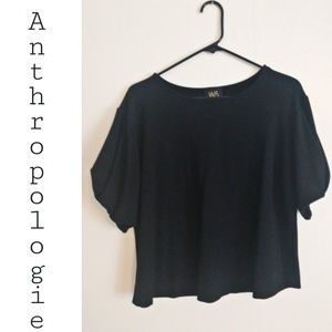 Anthropologie W5 Concepts Black Cropped Blouse